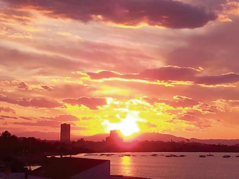 Fiery Sunset - Photo credits: Reider Hellen Schei