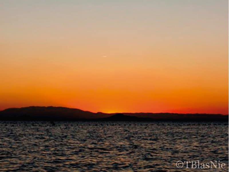 Orange sunset over the Mar Menor - Photo credits: Toñi Blasco