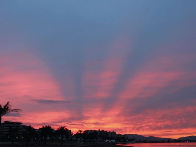 Pink sunset in Playa Honda