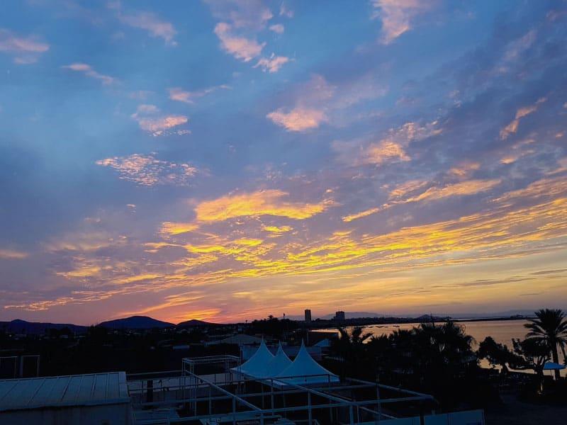 Sunset from bedroom window