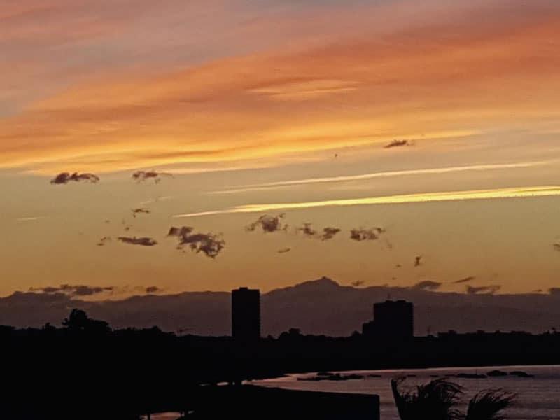 Sun setting in Playa Honda