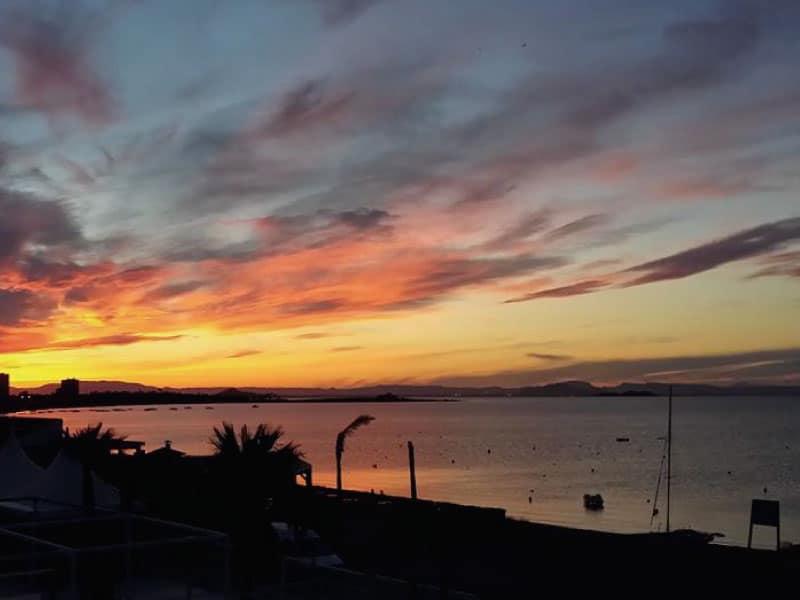 Sunset sky in Playa Honda