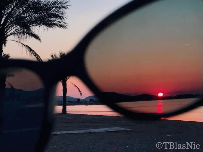 Sunset through her eyes - Photo credit: Toñi Blasco