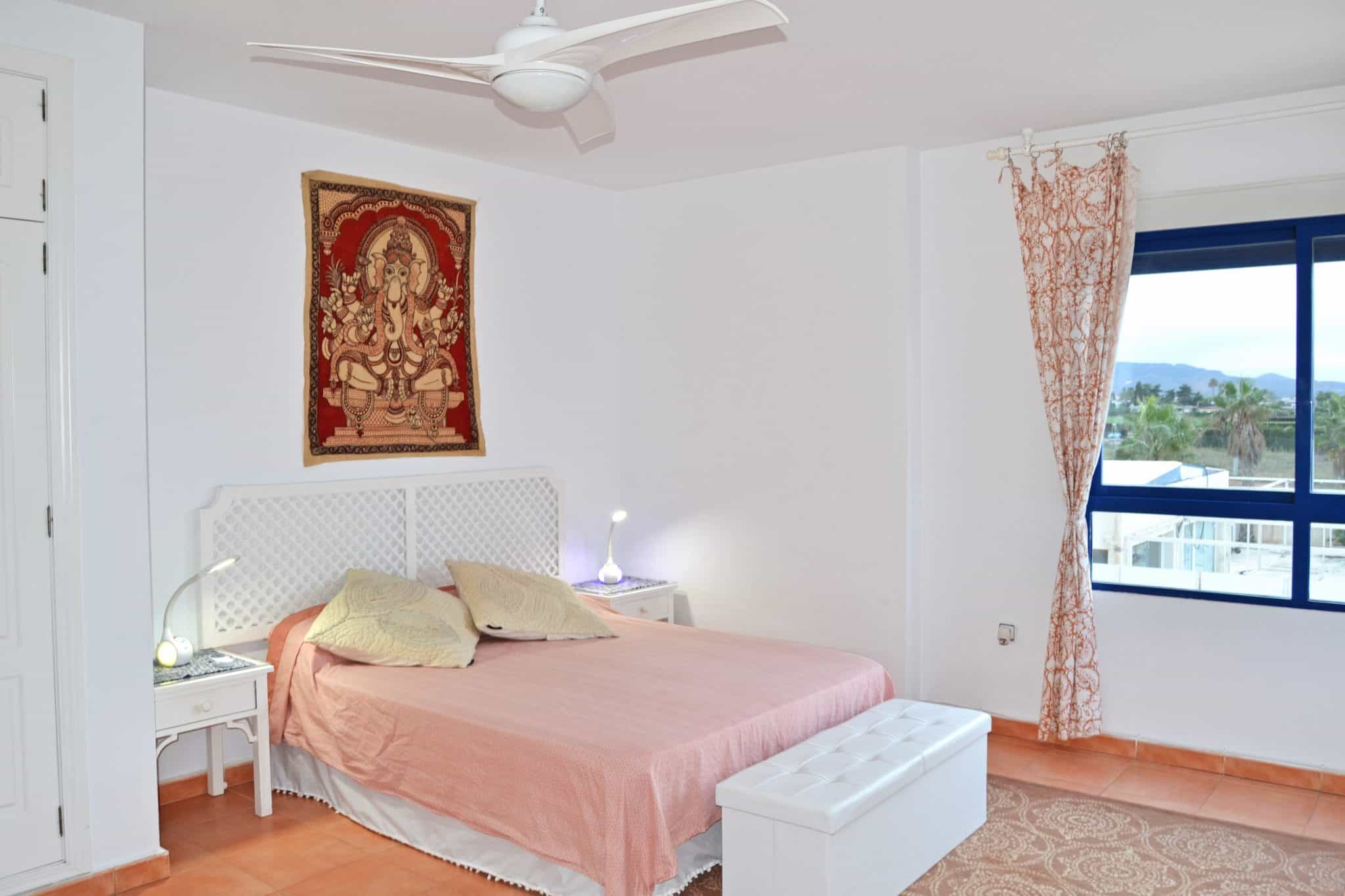Very spacious master bedroom with views