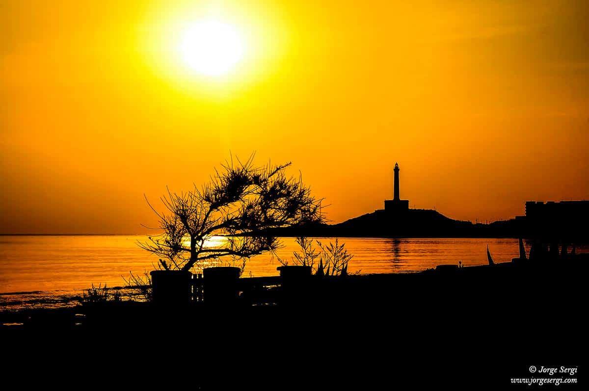 Faro de Cabo de Palos - Silhouette