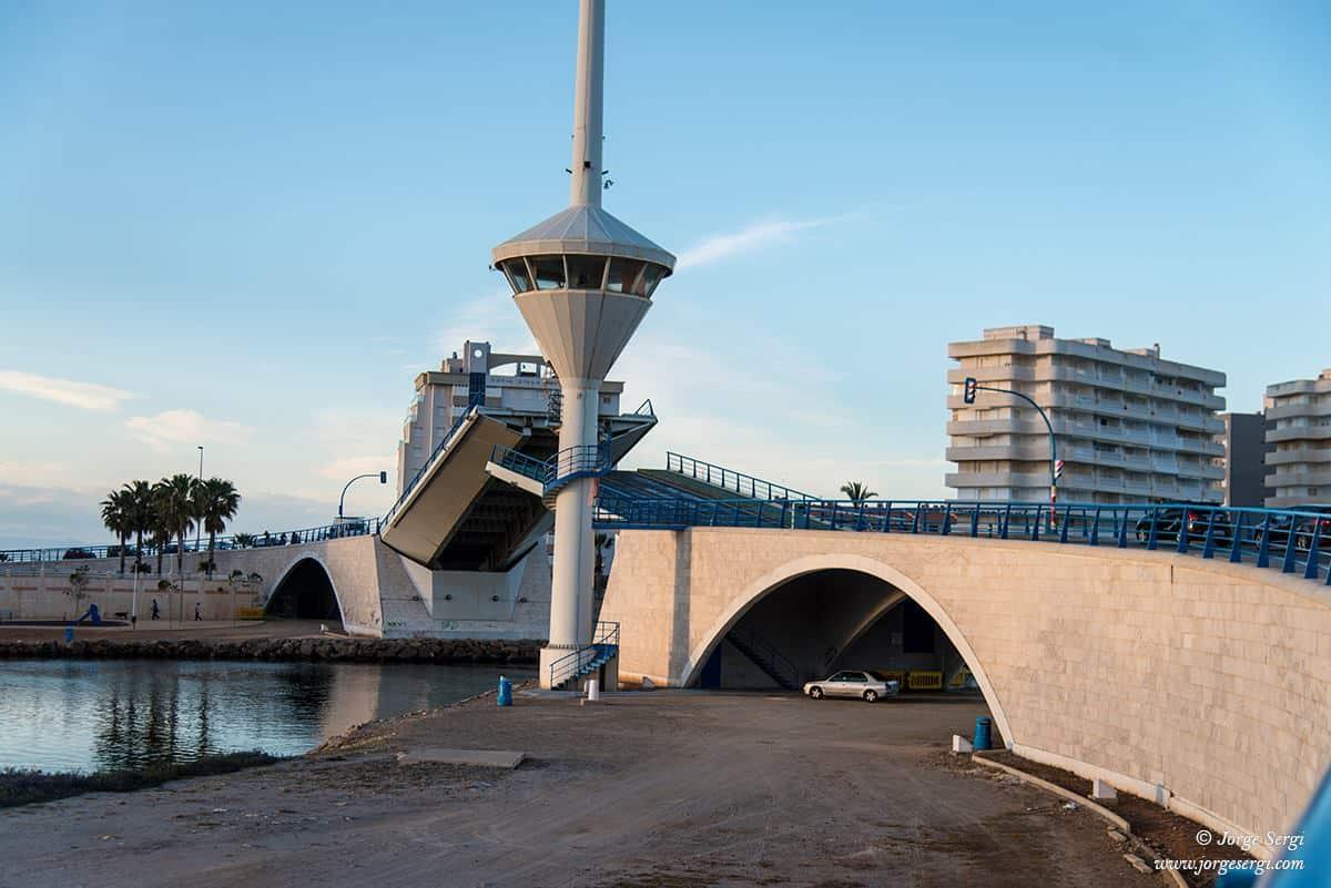 Folding bridge in La Manga 2