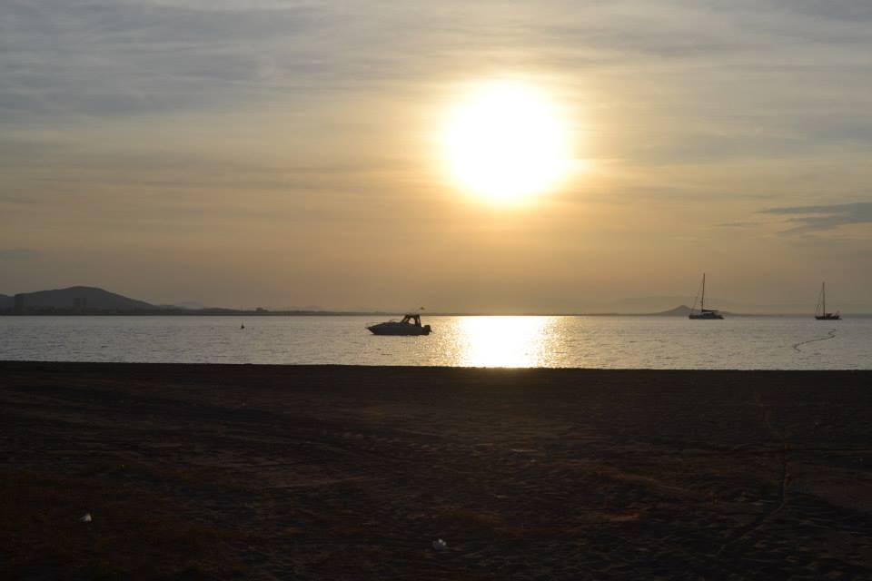 The sun's reflection in the Mar Menor