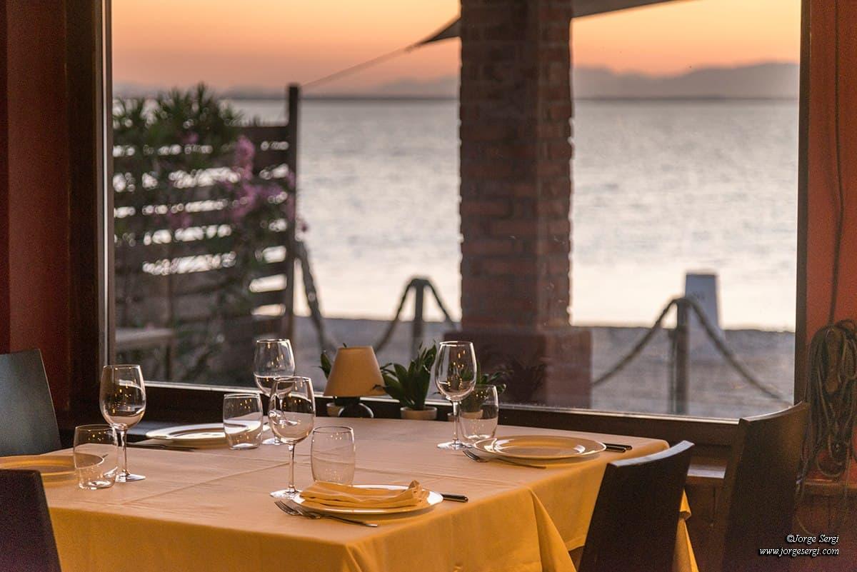 Views from the restaurant El Parador del Mar Menor