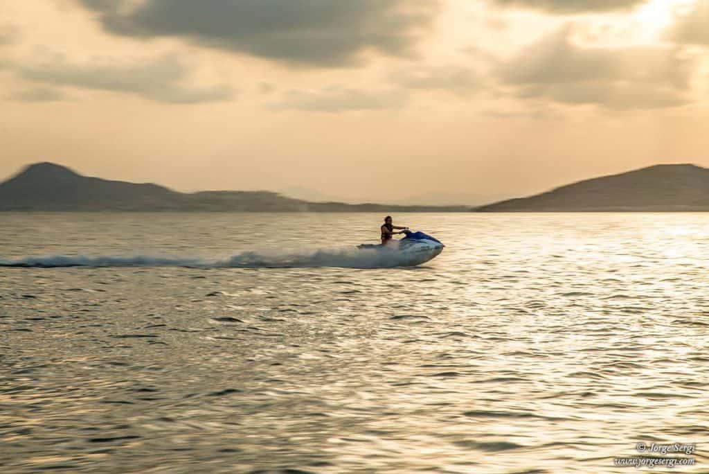 Moto de agua en el Mar Menor