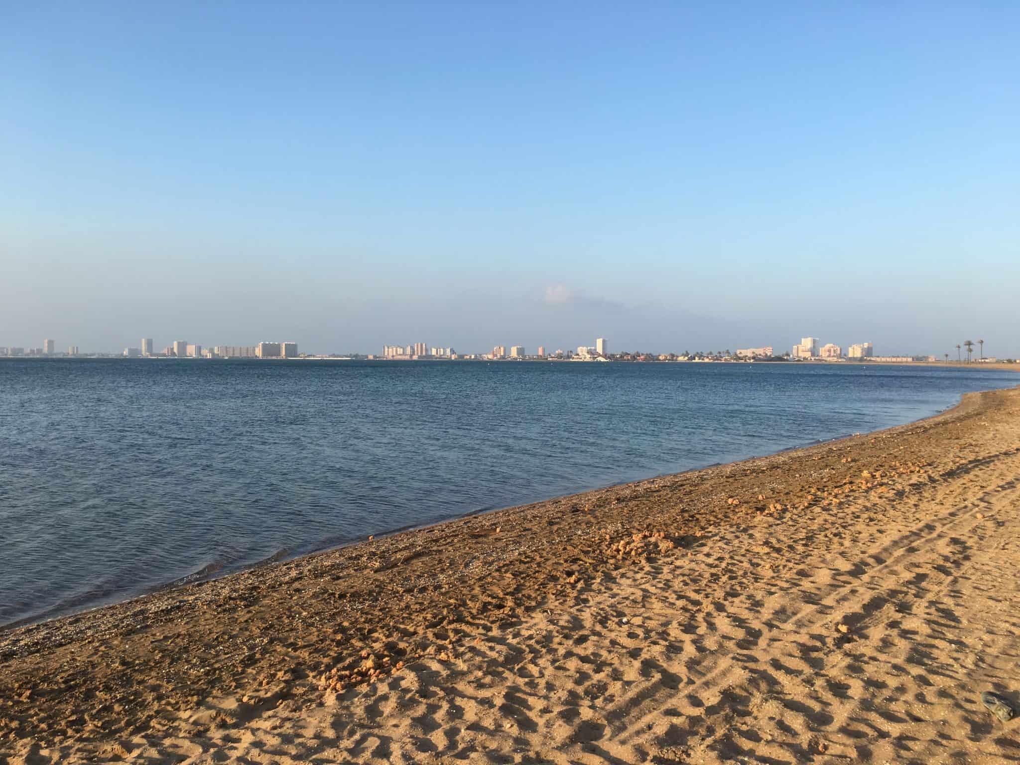 Walking along the beach in Playa Honda