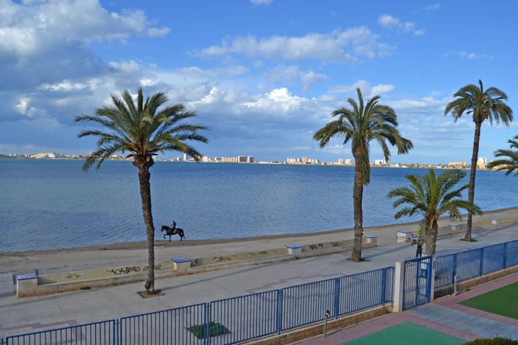 Paseo en caballo en Playa Honda, Mar Menor