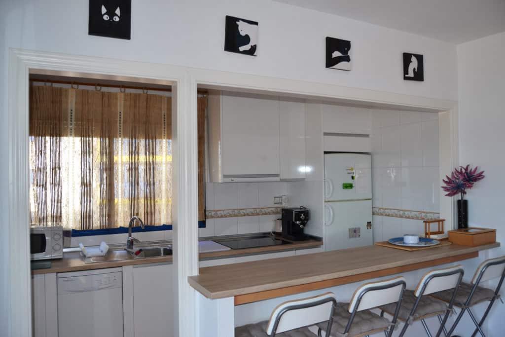 Es un placer cocinar en esta cocina limpia y moderna