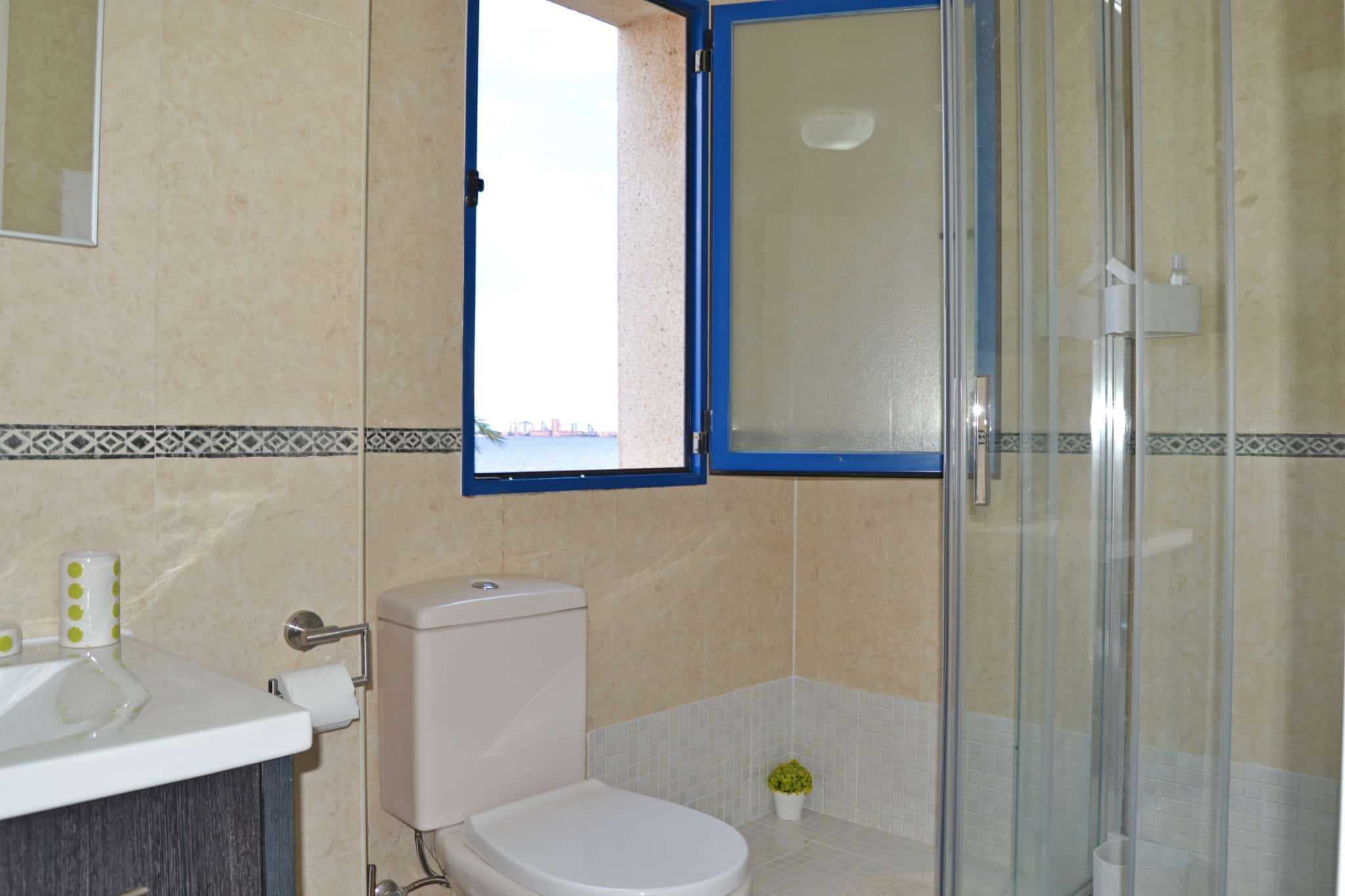 Shower with sea views