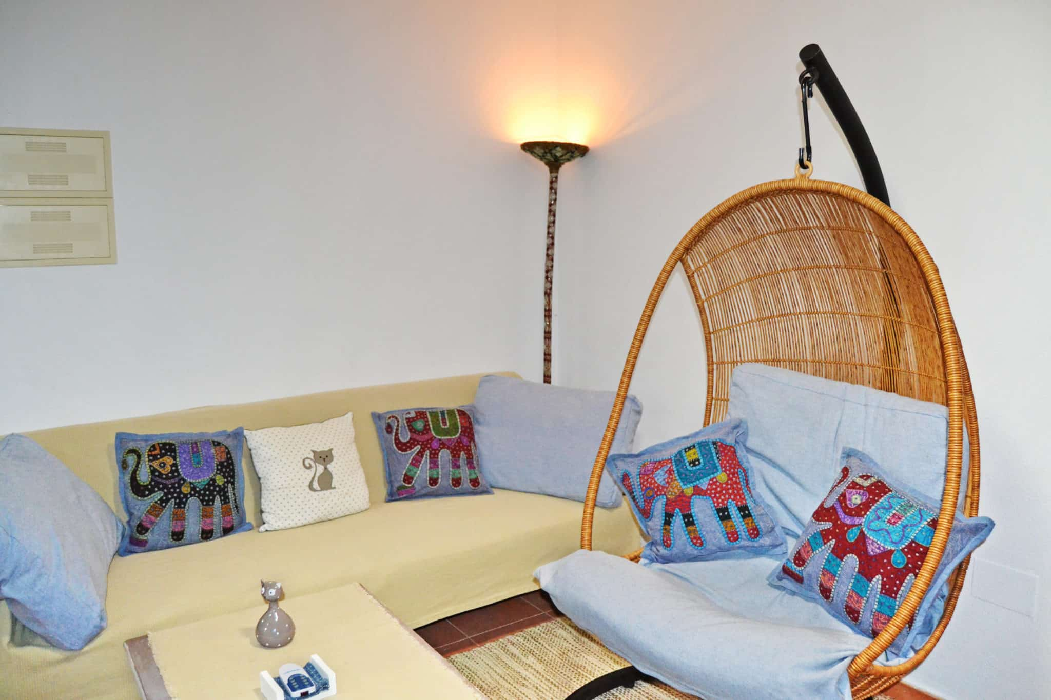 Hanging chair and sofa-bed