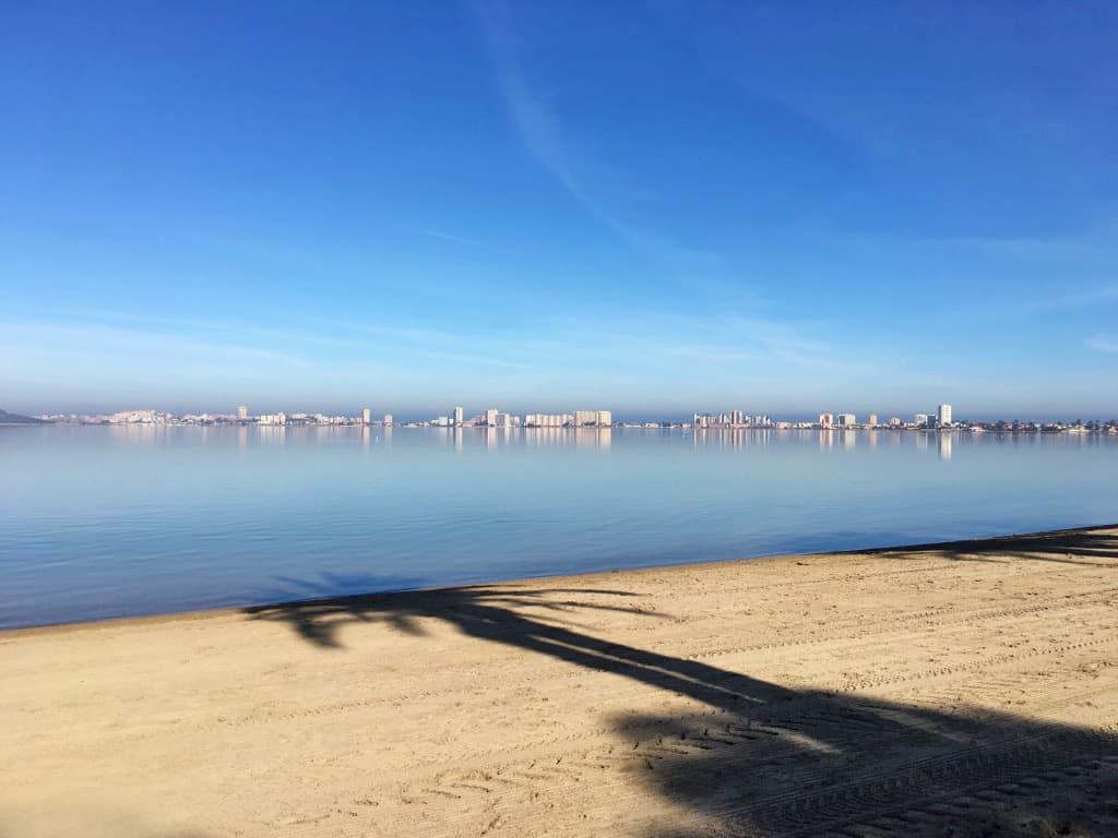 Buenos días desde el Mar Menor en Playa Honda