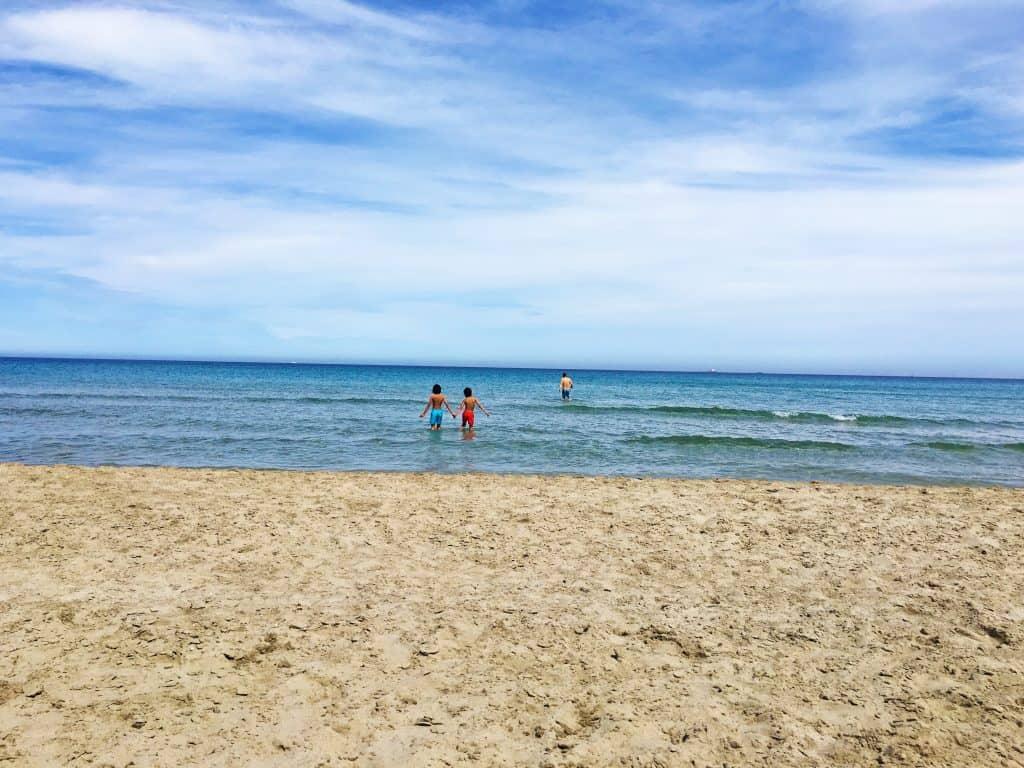 Playa en La Manga justo después de la primera rotonda