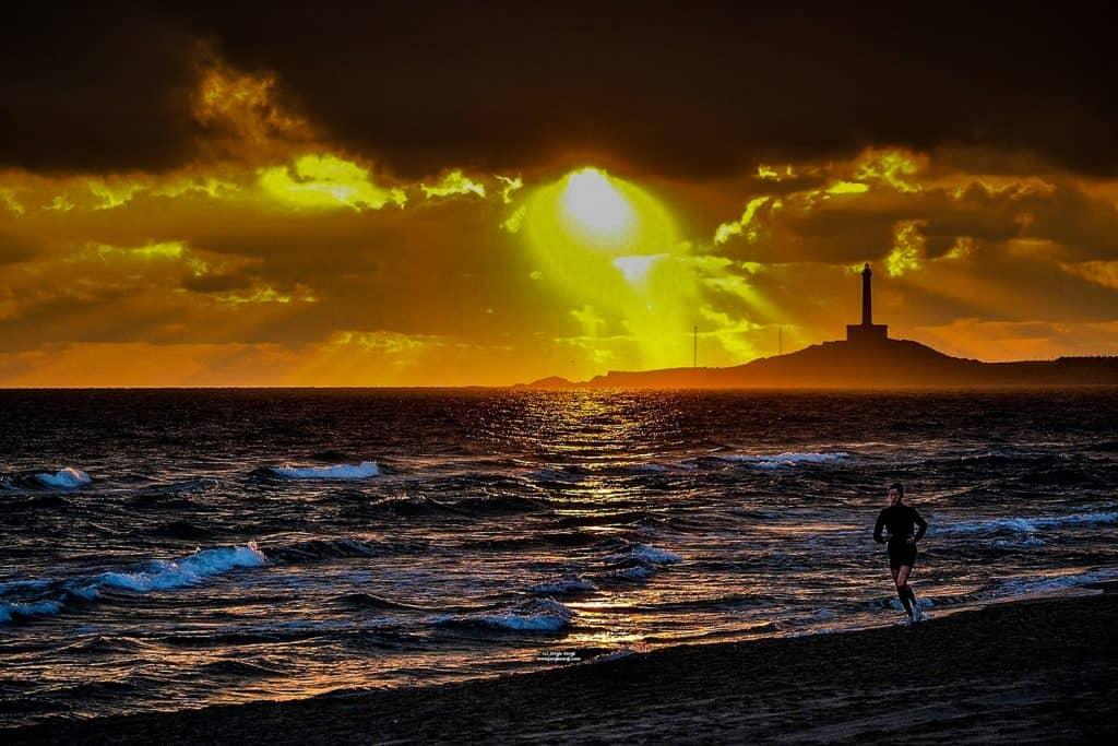 Amanecer en Cabo de Palos Playa de Levante