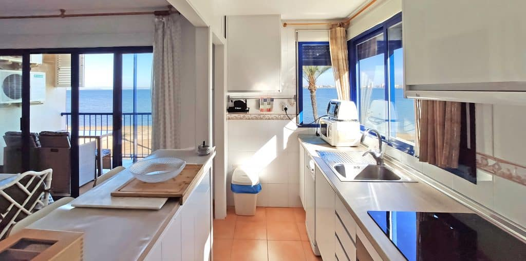 Enjoy cooking in this kitchen with views